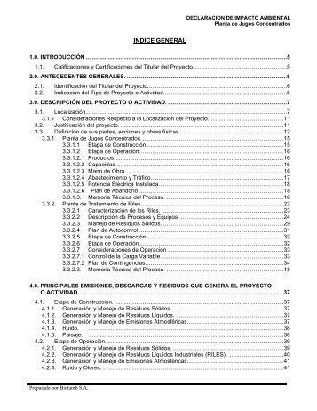 DIA Completa - SEA - Servicio de evaluación ambiental