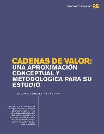 CADENAS DE VALOR: - Universidad Rafael Landívar