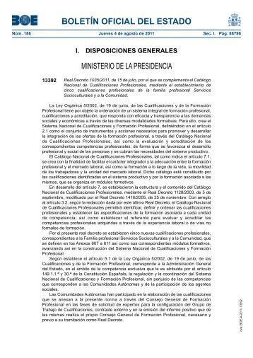 boletín oficial del estado - Formacion en Tanatoestética, Cursos de ...