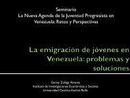 La emigración de jóvenes en Venezuela: problemas y ... - Ildis