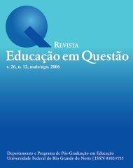 Revista Educação em Questão - Universidade Federal do Rio ...