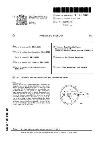 2113771 b1 oficina espa ola de patentes y marcas for Oficina de patentes y marcas sevilla