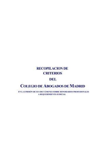 COLEGIO ABOGADOS MADRID
