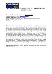 introdução à engenharia química – uma experiência ... - ABENGE