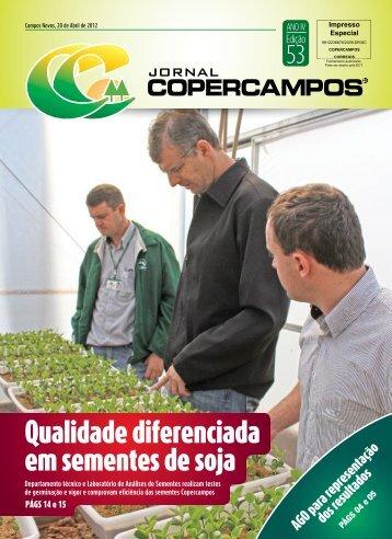 Qualidade diferenciada em sementes de soja - Copercampos