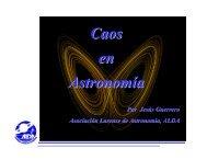 Caos en Astronomía - Asociación Larense de Astronomía, ALDA