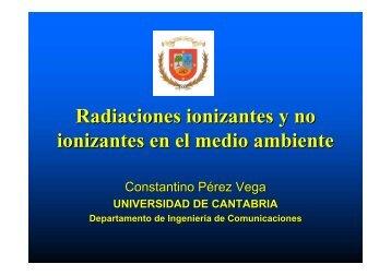Radiaciones ionizantes y no ionizantes. Efectos ambientales y ...