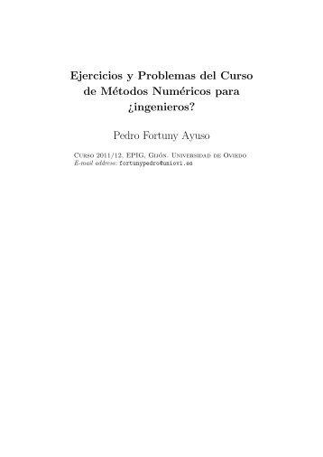 Ejercicios y Problemas del Curso de Métodos Numéricos para ...