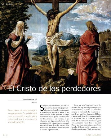 El Cristo de los perdedores - Centro Teológico Manuel Larraín