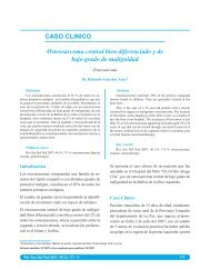 CASO CLINICO Osteosarcoma central bien diferenciado y de bajo ...