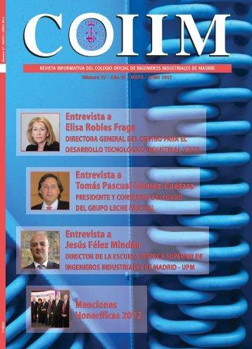 Revista 57 - Colegio Oficial de Ingenieros Industriales de Madrid