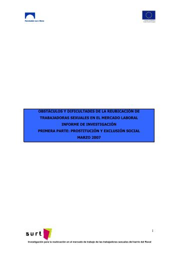 obstáculos y dificultades de la reubicación de trabajadoras ... - Surt