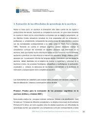 3. Evaluación de las dificultades de aprendizaje de la escritura