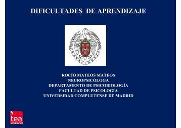 DIFICULTADES DE APRENDIZAJE - TEA Ediciones