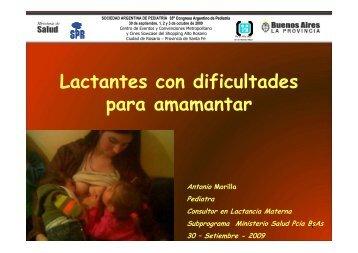 Lactantes con dificultades para amamantar - Sap2.org.ar