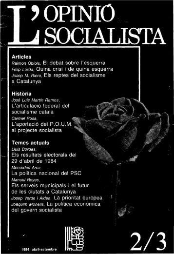 Articles Raimon Obiois, El debat sobre l'esquerra Felip ... - Atipus