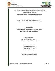 presentación del cuadernillo - Tecnológico de Estudios Superiores ...