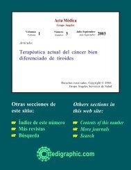 Terapéutica actual del cáncer bien diferenciado de ... - edigraphic.com