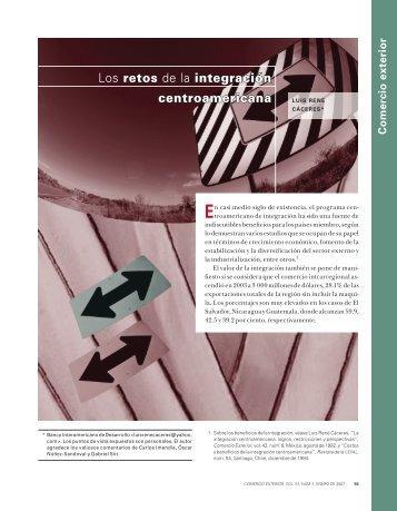 Los retos de la integración centroamericana - revista de comercio ...