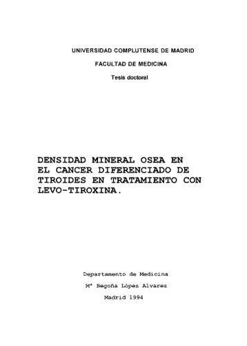 DENSIDAD MINERAL OSEA EN EL CANCER DIFERENCIADO DE ...