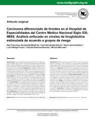 Carcinoma diferenciado de tiroides en el Hospital ... - edigraphic.com