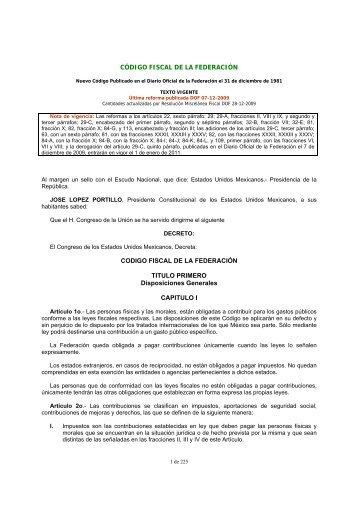 Código Fiscal de la Federación - Asociación de Bancos de México