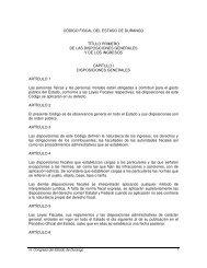 CÓDIGO FISCAL DEL ESTADO DE DURANGO TÍTULO PRIMERO ...