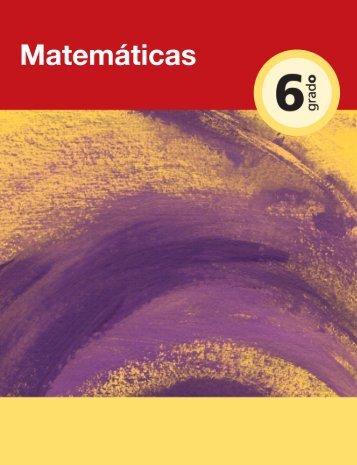 Matemáticas Sexto Grado - Dirección de Educación Especial