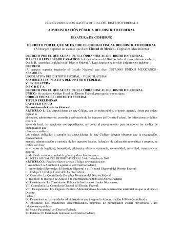 Nuevo Código Fiscal del Distrito Federal - Sanchez Soto
