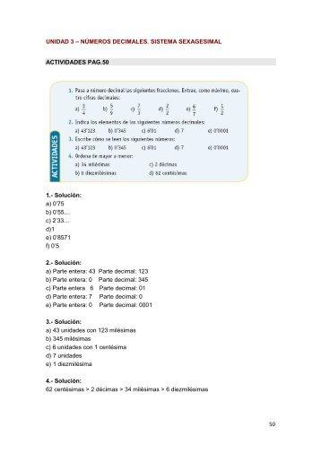 Unidad 3. Números Decimales. Sistema Hexadecimal