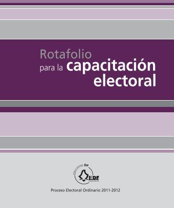 Rotafolio - Instituto Electoral del Distrito Federal