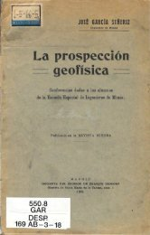 La prospección geofísica. Conferencias dadas a los alumnos de la ...