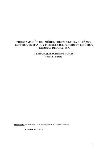programación del módulo de técnicas culinarias del ciclo de grado ...