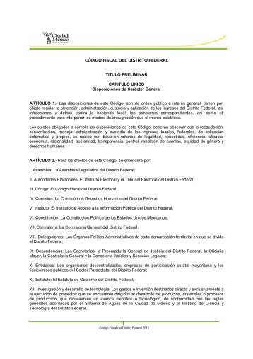 Código - Instituto Electoral del Distrito Federal
