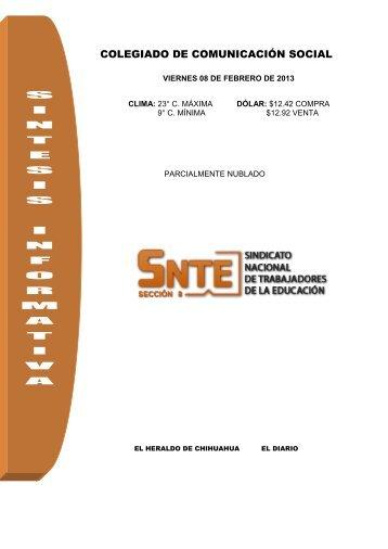 SINTESIS INFORMATIVA - SNTE Sección 8