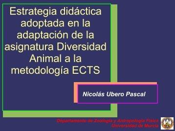 Estrategia didáctica adoptada en la adaptación de la asignatura ...
