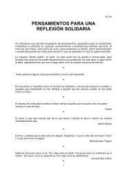 PENSAMIENTOS PARA UNA REFLEXIÓN SOLIDARIA - Pàgina d'inici