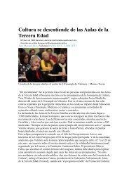 Cultura se desentiende de las Aulas de la Tercera Edad - Fevated.org