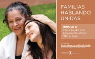 familias hablando unidas - The Center for Latino Adolescent and ...