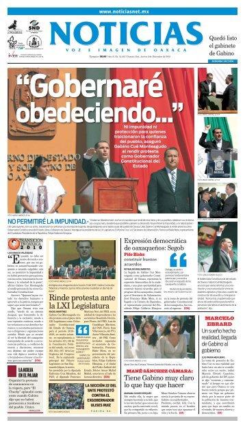 Lic. Gabino Cué Monteagudo - Noticias Voz e Imagen de Oaxaca