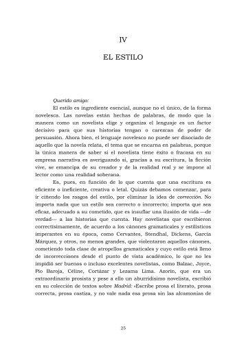 Mario Vargas Llosa – Cartas A Un Joven Novelista cap ... - Los Medios