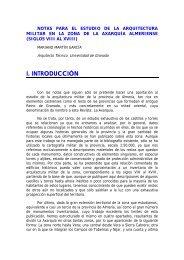 Notas para el estudio de la Arquitectura Militar en la zona de la ...