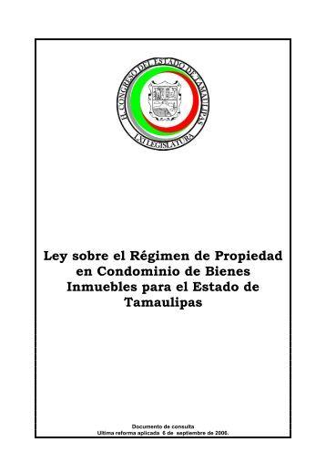 Ley sobre el Régimen de Propiedad en Condominio de Bienes ...
