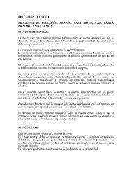EDUCACIÓN ARTÍSTICA. PROGRAMA DE EDUCACIÓN MUSICAL ...