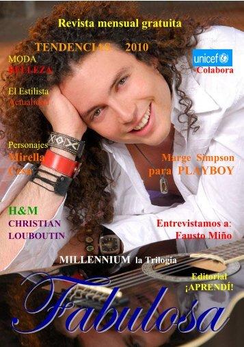 Revista mensual gratuita TENDENCIAS 2010 ... - Fabulosa Revista