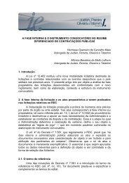 A FASE INTERNA E O INSTRUMENTO CONVOCATÓRIO NO ...