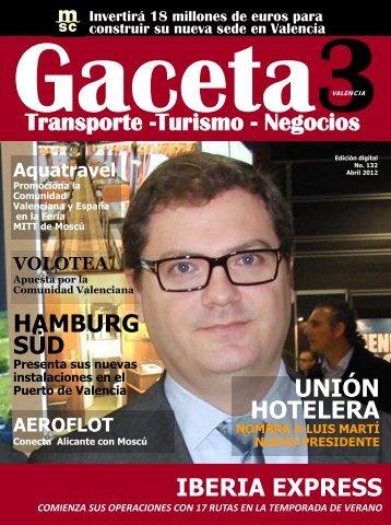 UNIÓN HOTELERA IBERIA EXPRESS Transporte ... - Gaceta3.com