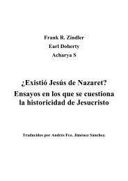 Zindler - Doherty - Acharya - ¿Existió Jesús - rompecabezas ... - Uned