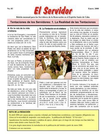 Tentaciones de los Servidores: 1. La Realidad de las ... - RCC Cuba