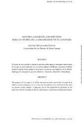 Historia, diacronía, dinamicidad. - Acceda - Universidad de Las ...